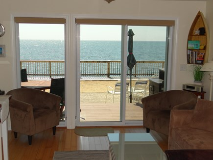 North Truro Cape Cod vacation rental - Living Room - sliders to private deck/patio