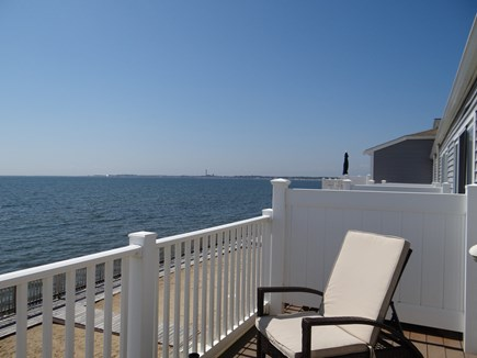 North Truro Cape Cod vacation rental - View to Provincetown from private, upstairs deck