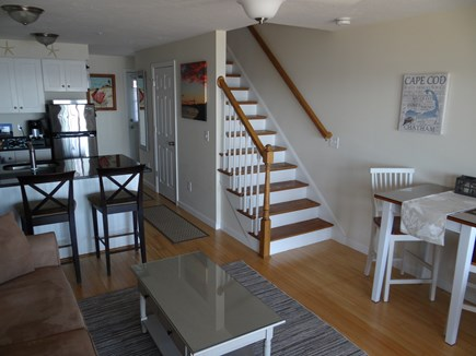 North Truro Cape Cod vacation rental - Living Room - Kitchen, High Top dining table