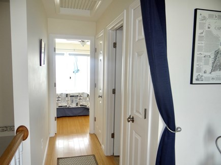 North Truro Cape Cod vacation rental - Upstairs hallway, full bath with tub/shower