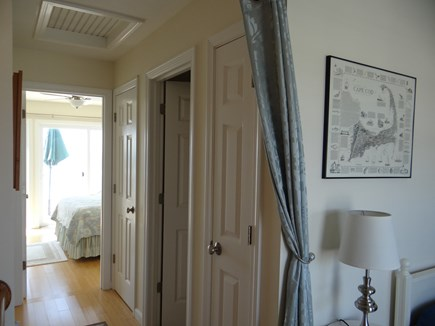 North Truro Cape Cod vacation rental - Upstairs hallway, full bath w/Jacuzzi tub