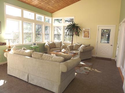 Chatham Cape Cod vacation rental - Living area of Great Room off of the deck