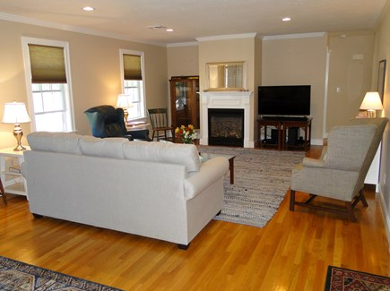 Yarmouth Cape Cod vacation rental - Living room offer fireplace and comfortable seating