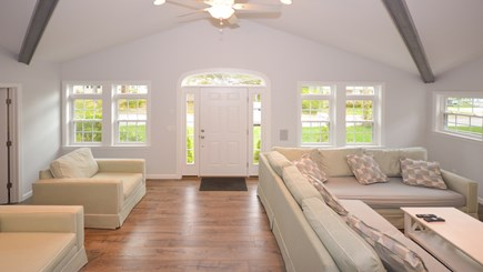 "New Seabury, Popponesset, Mash New Seabury vacation rental - New Living Room With High Ceilings and 55"" HDTV"