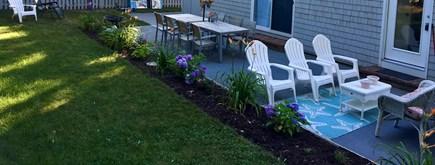 Popponesset, New Seabury, Mashpee, Poppy Cape Cod vacation rental - Large Patio with Teak, Adirondacks, Garden, Gas Grill