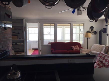 Provincetown Cape Cod vacation rental - The view from the kitchen through to the master bedroom.