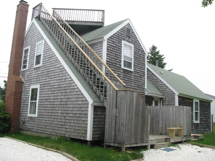 Dennis Village Cape Cod vacation rental - Rear of house showing roof deck and outdoor shower