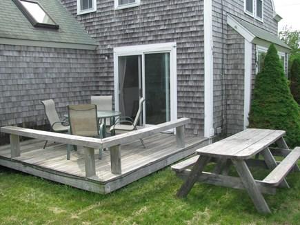 Dennis Village Cape Cod vacation rental - Side deck