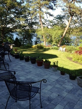 Falmouth Cape Cod vacation rental - Back patio with lake views