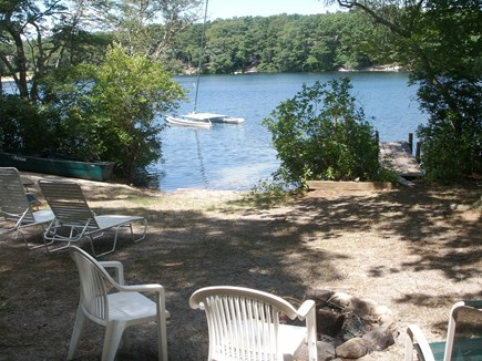 Falmouth Cape Cod vacation rental - Private beach and dock on the freshwater lake