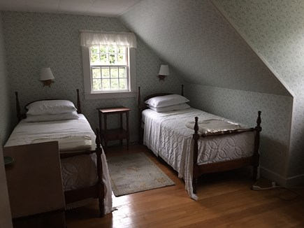 Brewster Cape Cod vacation rental - 3rd bedroom overlooking the front lawn.