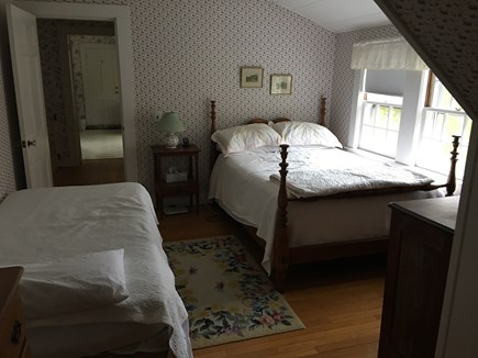 Brewster Cape Cod vacation rental - 2nd bedroom overlooking the pond/backyard.