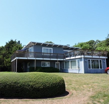 Falmouth Cape Cod vacation rental - Large Wrap around deck with Vineyard Views