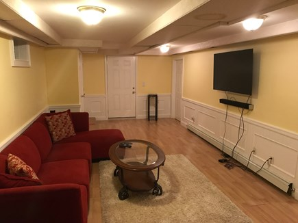 East Falmouth Cape Cod vacation rental - Finished basement with 55 inch UHDTV and full bath