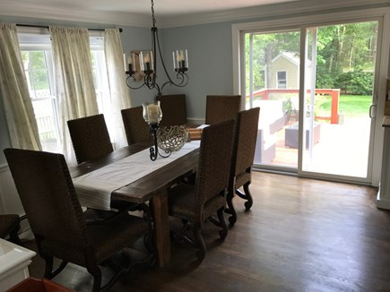 East Falmouth Cape Cod vacation rental - Custom Farm House Table w/Comfortable chairs