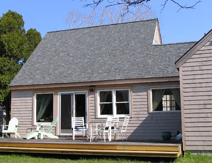 Eastham Cape Cod vacation rental - Wrap around deck at the back of the house with privacy to enjoy.