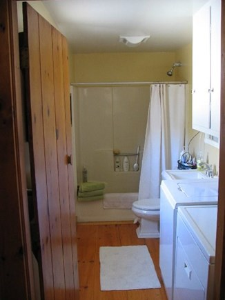 Eastham Cape Cod vacation rental - First floor bath with tub and new Speed Queen washer and dryer.