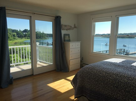 Eastham Cape Cod vacation rental - Master bedroom on 2nd floor, with balcony and views to Town Cove