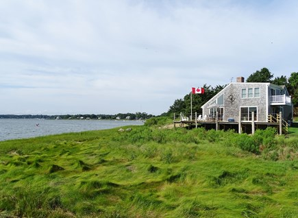 Eastham / Orleans Cape Cod vacation rental - View of house from dock on Town Cove