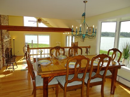 Eastham / Orleans Cape Cod vacation rental - Dining room with views to Town Cove