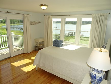 Eastham / Orleans Cape Cod vacation rental - Upstairs Queen Master bedroom with private deck