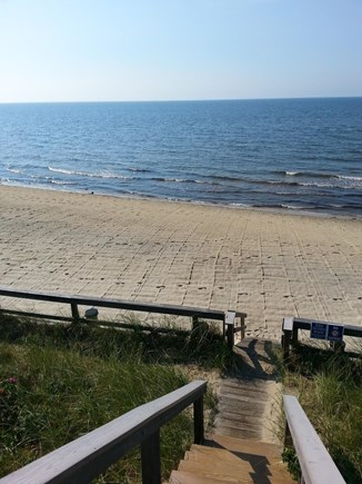 Dennis Port Cape Cod vacation rental - Steps to the private Nantucket Sound beach