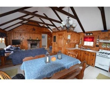 Dennis Port Cape Cod vacation rental - Open concept family room and kitchen
