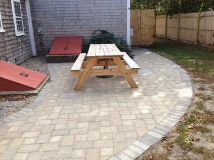 Dennis Port Cape Cod vacation rental - Backyard with patio and outdoor shower