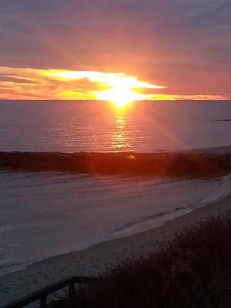 Dennis Port Cape Cod vacation rental - Deck at sunset