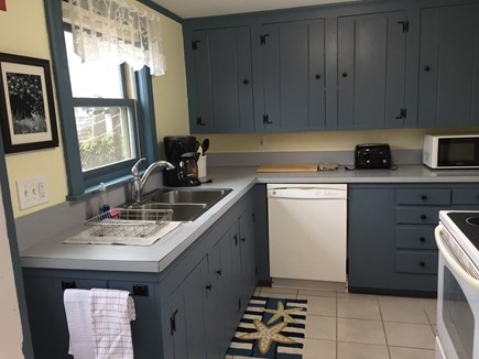 Dennis Port Cape Cod vacation rental - Fully stocked kitchen.Dishwasher, full size stove, refrig & micro