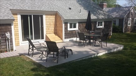 Dennisport Cape Cod vacation rental - Deck in private backyard