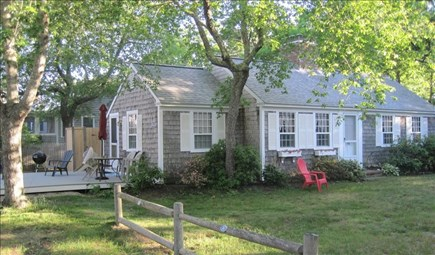 Dennis Port Cape Cod vacation rental - Deck w/seating, charcoal grill and outdoor shower.