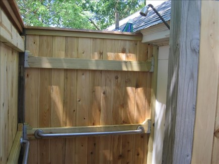 Dennis Port Cape Cod vacation rental - New outdoor shower.