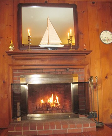 Dennis Port Cape Cod vacation rental - Working wood burning fireplace