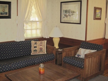 Dennis Port Cape Cod vacation rental - Living room with cable flat screen televison