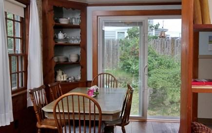 Dennisport Cape Cod vacation rental - Dining area with slider to deck