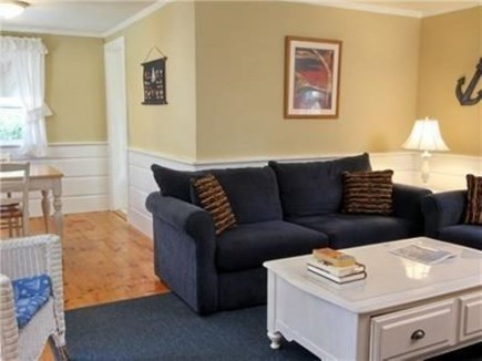 Dennis Port Cape Cod vacation rental - Living room w/flat screen cable television & cottage WIFI