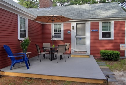 Dennisport Cape Cod vacation rental - Deck with patio furniture