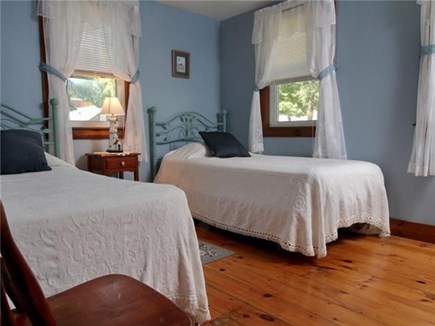 Dennisport Cape Cod vacation rental - Bedroom Three- twin beds. Linens provided.