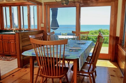 Dennisport Cape Cod vacation rental - Dining area with view of the ocean