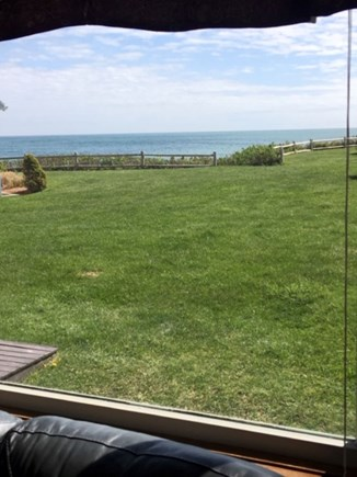 Dennis Port Cape Cod vacation rental - Ocean view looking out living room window