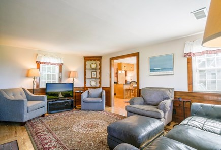 Dennis Port Cape Cod vacation rental - Living room, central AC (2 zones), washer dryer first floor