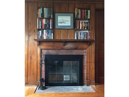 Dennis Port Cape Cod vacation rental - Natural gas fireplace in living room