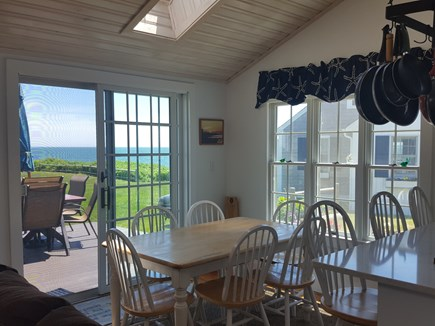 Dennis Port Cape Cod vacation rental - Ocean views from dining room.  Steps to private beach!