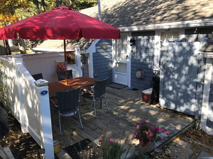 Dennis Port Cape Cod vacation rental - Outdoor shower, charcoal grill