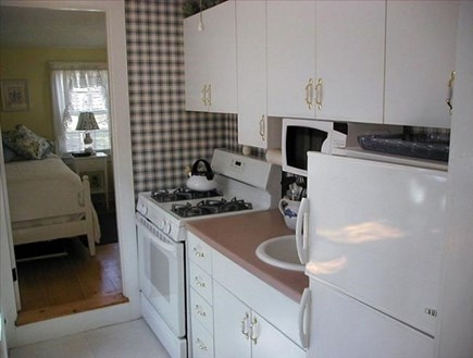 Dennis Port Cape Cod vacation rental - Full kitchen with full stove, microwave and coffee maker