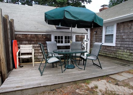 Dennis Port Cape Cod vacation rental - Deck, outdoor shower, charcoal grill & beach chairs provided