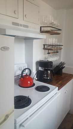 Dennis Port Cape Cod vacation rental - Stove, microwave, toaster, coffee maker, dishes, pots/pans
