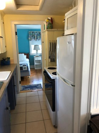 Dennis Port Cape Cod vacation rental - Fully equipped kitchen with full stove, microwave and refrig.