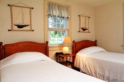 Dennis Port Cape Cod vacation rental - Bedroom with 2 twins. Linens provided.